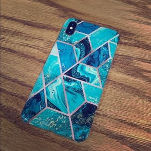 Marble Watercolor Geometric iPhone XS Max Case